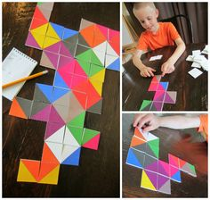 Relentlessly Fun, Deceptively Educational: Triangles to Squares Take-a-Long Game (on FD and printed out) Math For Kids, Games For Kids, Diy For Kids, Family Game Night, Family Games, Learning Activities, Activities For Kids, Dots And Boxes, The Game Is Over