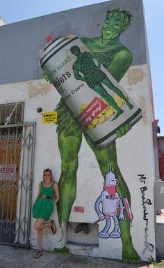 Mr Brainwash...jolly green giant...