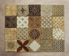 Handmade Ceramic Rustic Tiles for Kitchen Bathroom Backsplash - Moroccan Tiles - Decorative Tiles by HerbariumCeramics on Etsy https://www.etsy.com/listing/537149560/handmade-ceramic-rustic-tiles-for