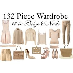 """""""15 in Beige & Nude"""" by charlotte-mcfarlane on Polyvore"""