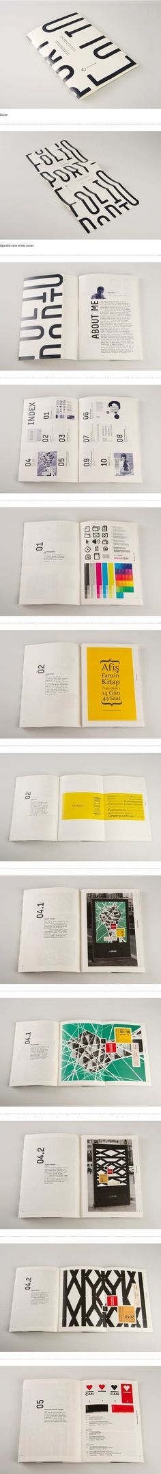 Idea for exhibition booklet ? Portfolio Booklet by Emre Ozbek intro infographic and number visual info->introduce briefly_:
