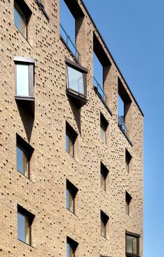 Designed by Pollard Thomas Edwards Architects using our Freshfield Lane Selected Dark bricks for Ceres in Cambridgeshire http://pollardthomasedwards.co.uk/ceres-cb1-wins-cambridge-design-and-construction-award-best-new-building/
