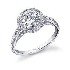 Sylvie Round Brilliant Diamond Engagement Ring