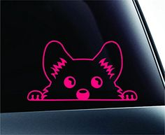 Corgi Peeking Dog Symbol Decal Funny Car Truck Sticker Window (Pink) ExpressDecor http://www.amazon.com/dp/B00RNC920C/ref=cm_sw_r_pi_dp_SLcRub197NY87