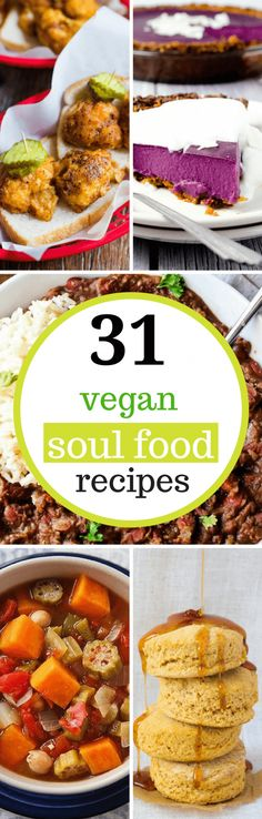 These Vegan Soul Food Recipes make the best, easy, healthy, plant-based dinners. African American & Southern meals like raw greens, mac and cheese, black eyed peas and much more! | The Green Loot #vegan #soulfood