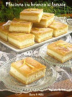 Placinta-cu-branza-si-lamaie-1 Cheese Recipes, Baby Food Recipes, Cookie Recipes, Dessert Recipes, Romanian Desserts, Romanian Food, Romanian Recipes, Lemon Cream Cheese Pie, Good Food