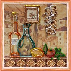 DIY beadpoint DIY bead on needlepoint kit A Song Of Herons bead embroidery kit