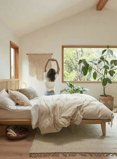 15 Urban Outfitters Home Finds To Spruce Up Your Space Bohemian Bedroom finds Home outfitters Space Spruce Urban Dream Bedroom, Home Bedroom, Bedroom Hammock, Nature Bedroom, Peaceful Bedroom, Light Bedroom, Warm Cozy Bedroom, Bedroom Decor Boho, Warm Bedroom Colors