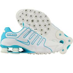 Nike Womens Shox NS SL (white / baltic blue) 366571-141 - $109.99