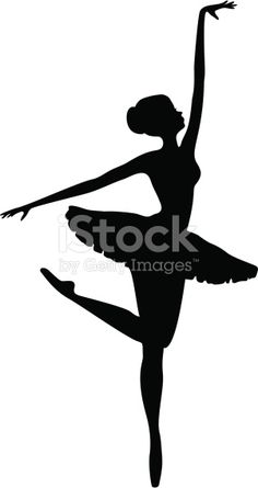 Energetic Ballerina Dancer Silhouette