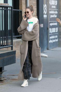 "Gigi Hadid source on Twitter: ""April 28: Gigi hadid out in NYC… """