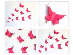 Pink ButterfliesButterfly Wall artWall DecorPaper by MyDreamDecors, $14.50