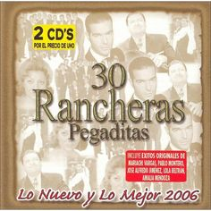Various Artists - 30 Rancheras Pegaditas: Lo Nuevo y lo Mejor, Vol. 2 (CD)