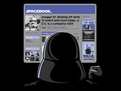 Be careful what you say online, Darth Vader keeps tabs on all his troops even when they're not working. In the end, it may com back to haunt you, um, yeaaaahhhh, that'd be great (http://pinterest.com/pin/192036371583494053/).