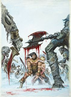 """Savage Sword of Conan - Earl Norem """"Crush your enemies. See them driven before you. Hear the lamentations of their women."""" (Conan The Barbarian, 1982)"""