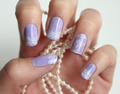Syl and Sam: lace nails tutorial