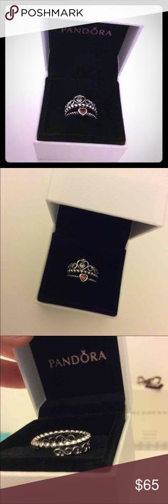 Pandora rings size 7 (54) Pandora rings size 7 (54). All authentic. Will ship the next day unless you purchase on Saturday because the post office is closed on sundays. It comes with the box and the box cover. Brand new and never worn! Pandora Jewelry Rings