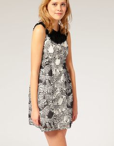 Peoples Market Zebra Print Dress