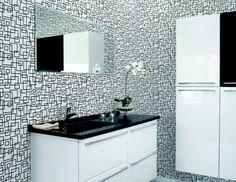 1000 images about zwart wit on pinterest van album and met - Zwarte badkamer witte ...