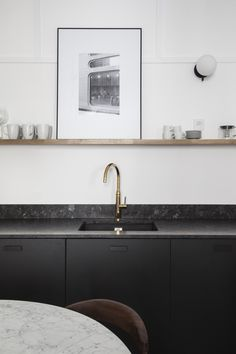 Fantastic modern kitchen room are available on our site. Read more and you wont be sorry you did. White Galley Kitchens, Galley Kitchen Design, Galley Kitchen Remodel, Home Kitchens, Kitchen Designs, Kitchen Chairs, Kitchen Furniture, Kitchen Interior, Kitchen Decor