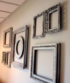 Empty Frame Wall. Picture frames. DIY. Crafts