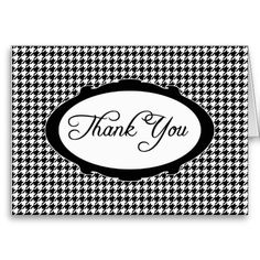 Houndstooth Thank You Notecard