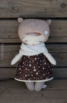 The tulia doll is made from soft cotton canvas fabric filled in with silicone fibres. Eyes are embroidered, the face is hand painted with acrylic colours.Sock s Doll Sock dolls Tiny Dolls, Soft Dolls, Softies, Felt Doll Patterns, Tilda Toy, Homemade Dolls, Sock Crafts, Sock Toys, Sock Animals