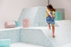 Turner Prize-nominated architecture collective Assemble has teamed up with British artist Simon Terrill to create full-size foam replicas of playground designs from architecture's Brutalist Vitra Design Museum, Playground Design, Indoor Playground, Playground Ideas, Turner Prize, Interactive Exhibition, Interactive Art, Dezeen, Brutalist