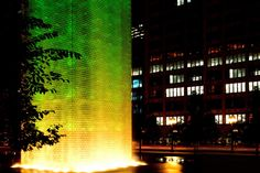 The towers of Crown Fountain are illuminated with ColorBlast 12.