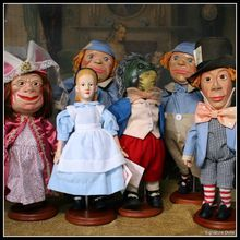 Charming Alice In Wonderland Set of Six Dolls by Strong Museum