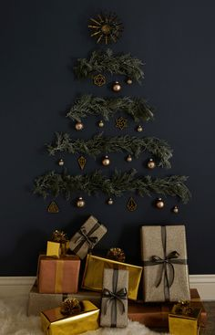 Add Cool to Your Yule with a Light, Layered Wall Tree — Sponsored By Command™ Brand | Apartment Therapy