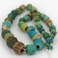 Ancient Eygpitian Faience Bead Strand