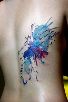 watercolor ballerina tattoo | Flickr - Photo Sharing!