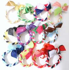 Braided hair ties   I love making these!!