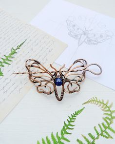 Hair pin Butterfly hair stick Wire wrapped hair accessories