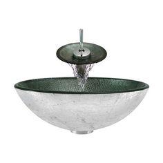 The MR Direct Bathroom Sink 617-WF Bathroom Waterfall Faucet Ensemble
