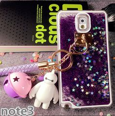 Fashion 3D Flowing Liquid Luxury Bling Glitter Sparkle Stars Case Cover for Samsung Galaxy Note 5 4 3 S7 EDGE S6 S5