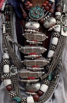 lot's of traditional necklaces