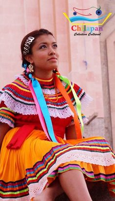 Traje de San Jeronimo Palantla, Chilapa Guerrero, México.