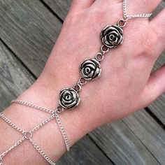 28.00 Grey Roses, Rose Buds, Silver Bracelets, Pandora Charms, Charmed, Trending Outfits, Unique Jewelry, Handmade Gifts, Vintage