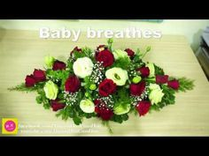 Blossom in Home ,Green Lisianthus mix Baby breathes flower Floral Arrangement Classes, Funeral Flower Arrangements, Flower Arrangements Simple, Funeral Flowers, Wedding Flowers, Cemetery Flowers, Ikebana, Babies Breath, Fresh Flowers