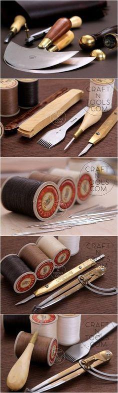 Everything you need for leathercraft #leathertools #leathercraft #vergezblanchard