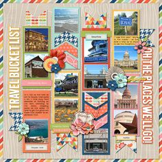 For January Challenge Bingo - Your travel bucket list Single 73: Lots of Snapshots 40 by Cindy Schneider I Quill Always Love You by Jady Day Studio Summertime Fun – On Travel by Jady Day Studio