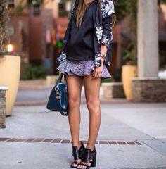 skirt + fower print