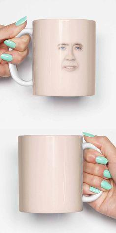 Nicolas Cage Face - funny mug, gifts for him, meme mug, unique mug, office mug, housewarming gift, gifts for her 4P024A