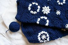 Starry Night Baby Blanket Granny Square Crocheted by lauraprilltoo, $80.00