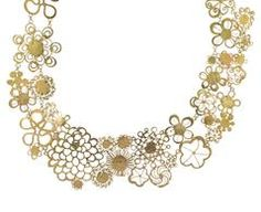 Gold Flowery Erewhon Collar Necklace