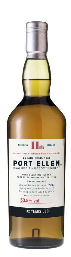 Port Ellen 11 th. Good Whiskey, Scotch Whiskey, Bourbon Whiskey, Rum Bottle, Liquor Bottles, Whisky Islay, Famous Wines, Single Malt Whisky, Beer Packaging