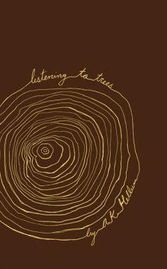 Listening to Trees by A.K. Hellum; design by Kisscut Design (NeWest Press) http://kisscutdesign.com/ #book_cover #jacket #folding