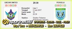 Prediksi Skor Bola Gresik United vs Persela 5 Jun 2017 Liga 1 di Stadion Tridarma (Petrokimia) (Gresik) pada hari Senin jam 20:30 WIB LIVE DI TV One